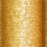 Abstrakte Goldmosaikquadrate Schimmerndes geometrisches Muster Lizenzfreie Stockfotografie