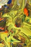 Abstrakte grüne Acrylmalerei Stockfotos