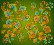 Abstrakte grüne Artsy Beschaffenheit stock abbildung