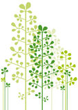 Abstrakte grüne Bäume Stockbild