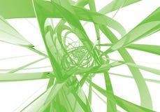 Abstrakte grüne Drähte Stockfoto