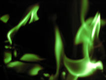 Abstrakte grüne Flamme Stockfoto