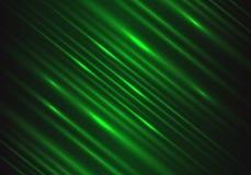 Abstrakte grüne Lichtgeschwindigkeitsenergie-Technologieenergie auf schwarzem futuristischem Hintergrundvektor lizenzfreie abbildung