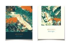 Abstrakte grüne orange Karte Lizenzfreies Stockbild