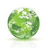 Abstrakte grüne Planet Erde Stockfotografie