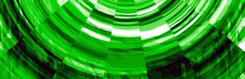 Abstrakte grüne Titel-Fahne Stockfoto