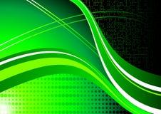 Abstrakte grüne Wellen Stock Abbildung