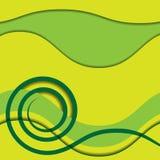 Abstrakte Grünspirale mit farbigem Hintergrund Stockbilder