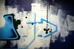 Abstrakte Graffiti. Stockfotografie