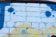 Abstrakte Graffitimalereien auf der Betonmauer ackground Beschaffenheit Stockbild