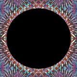 Abstrakte Grenze mit schwarzer Mitte stockbild