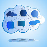 Abstrakte große Wolkendatenverarbeitung Lizenzfreies Stockfoto