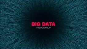 Abstrakte gro?e Daten-futuristische Sichtbarmachung lizenzfreie abbildung