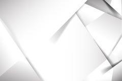 Abstrakte grundlegende Geometrie des weißen und grauen Hintergrundes überschneidet stock abbildung