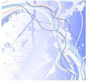 Abstrakte grunge Blauschablone Stockfotografie