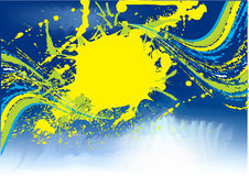 Abstrakte grunge Blauschablone Lizenzfreie Stockfotografie