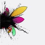 Abstrakte grunge Blumen-Hintergrundauslegung Lizenzfreie Stockfotos