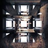 Abstrakte grungy Innenhintergrundillustration Lizenzfreies Stockfoto