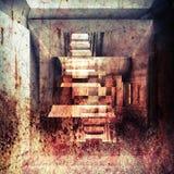 Abstrakte grungy Innenhintergrundillustration mit Rost Lizenzfreie Stockbilder