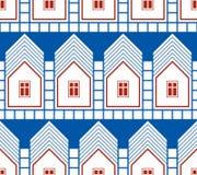 Abstrakte Häuser und ununterbrochener Hintergrund der Häuschen, Immobilien Lizenzfreie Stockfotografie