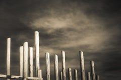 Abstrakte hölzerne Spalten Stockfotografie