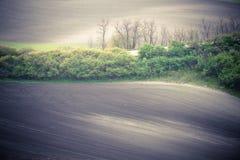 Abstrakte Hügel und Felder Stockfoto