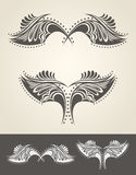 Abstrakte Hand gezeichnete Flügel Lizenzfreie Stockfotos