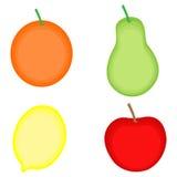 Abstrakte Hand gezeichnete Früchte auf weißem Hintergrund Lizenzfreie Stockfotos