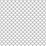 Abstrakte Hand gezeichnete Muster-Asiatsart des Entwurfswellenwassers nahtlose stock abbildung