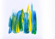 Abstrakte Hand gezeichneter kreativer Kunsthintergrund der Acrylmalerei clo Lizenzfreies Stockbild