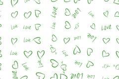 Abstrakte Handgezogene Liebe für Valentinstag, Feiern oder Jahrestag Hintergrund, Hintergrund, Effekt u. festliches vektor abbildung