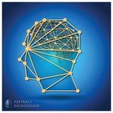 Abstrakte Hauptform mit Brain Background Stockfoto