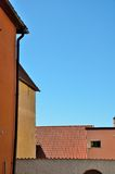 Abstrakte Hausmauern Lizenzfreies Stockbild