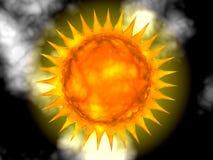 Abstrakte heiße Sonne stockfotos