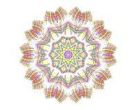 Abstrakte helle Farbkonzentrische Form Lizenzfreie Abbildung
