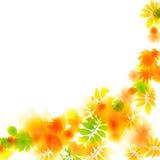 Abstrakte helle Herbstlaubzusammensetzung Stockbild