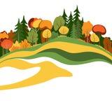 Abstrakte Herbstbäume Lizenzfreie Stockfotos