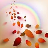Abstrakte Herbstblätter Lizenzfreies Stockbild
