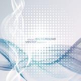 Abstrakte Hintergründe mit bunten gewellten Linien Elegantes Wellendesign Vektortechnologie Lizenzfreie Stockfotos