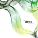 Abstrakte Hintergründe mit bunten gewellten Linien Elegantes Wellendesign Vektortechnologie Stockbild