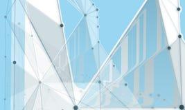 Abstrakte Hintergründe von hellgrauen Linien der Moleküle Lizenzfreie Stockbilder