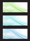 Abstrakte Hintergrund-Fahne in drei Farbe Combinat Lizenzfreie Stockfotos