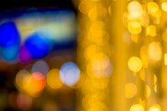Abstrakte Hintergrund-Gelbgrün und Rosa Bokeh-Lichter würden für jedes Festival entsprechen stockfotografie