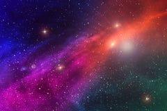 Abstrakte Hintergrundbeschaffenheit des entfernten Sternraumes und Mehrfarben lizenzfreie abbildung
