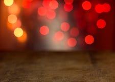 Abstrakte Hintergrundholzoberfläche mit bokeh Lizenzfreie Stockfotografie