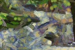Abstrakte Hintergrundillustration mit Farbe streicht und spritzt Lizenzfreie Stockbilder