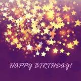 Abstrakte Hintergrundkarte des Geburtstages Stockfoto