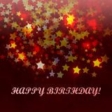 Abstrakte Hintergrundkarte des Geburtstages Lizenzfreie Stockfotografie