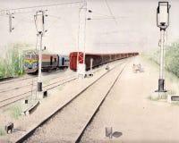 Abstrakte Hintergrundmalerei Stockbilder