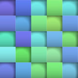 Abstrakte Hintergrundpapierquadrate Stockbild